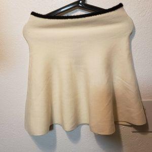 NWT Zara Knit white skirt